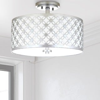 Safavieh Hutch 3 Light 16-Inch Dia Silver Flush Mount