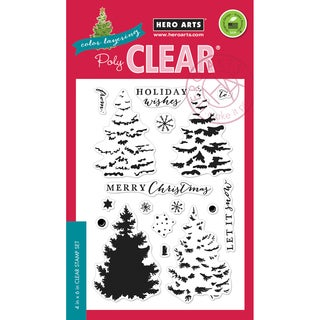 Hero Arts Clear Stamps 4X6-Color Layering Christmas Tree