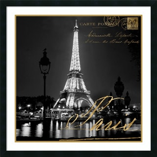 Framed Art Print 'Paris At Night' by Kate Carrigan 34 x 34-inch