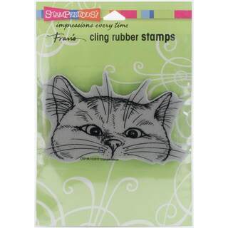 Stampendous Cling Stamp 6.5X4.5-Nosey Cat