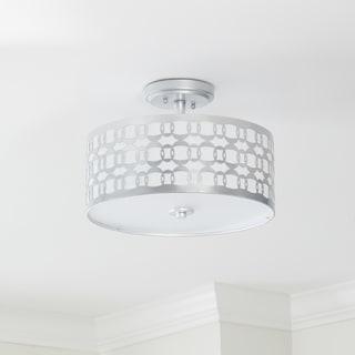 Safavieh Cedar Linked 3 Light 15-Inch Dia Silver Flush Mount