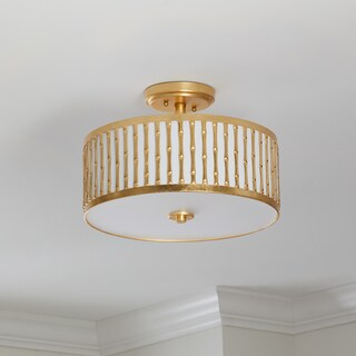 Safavieh Pierce 3 Light 15.25-Inch Dia Gold Flush Mount