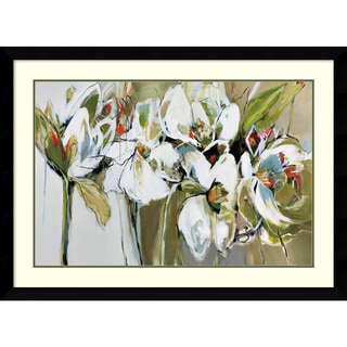 Framed Art Print 'Spring Blooms (Floral)' by Angela Maritz 45 x 33-inch