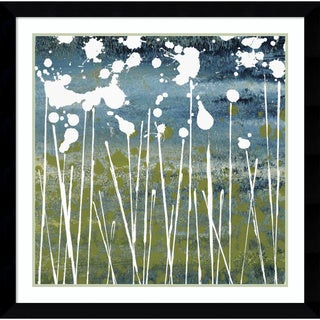 Framed Art Print 'Midnight Blue' by Liz Nichtberger 35 x 35-inch