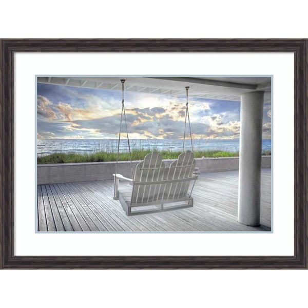 Shop Framed Art Print \'Swing At The Beach\' by Celebrate Life Gallery ...