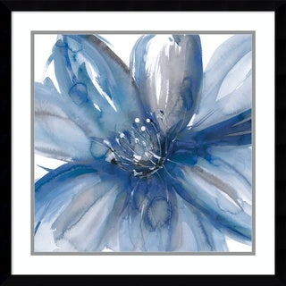 Framed Art Print 'Blue Beauty I (Floral)' by Rebecca Meyers 23 x 23-inch