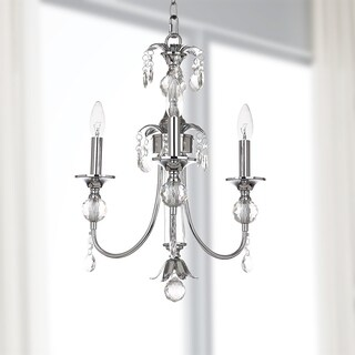 Safavieh Lighting 17-inch Mayfield Chrome/ Clear Adjustable Chandelier