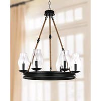 Safavieh Lighting 25-inch Fritz Black/ Brown Adjustable Chandelier