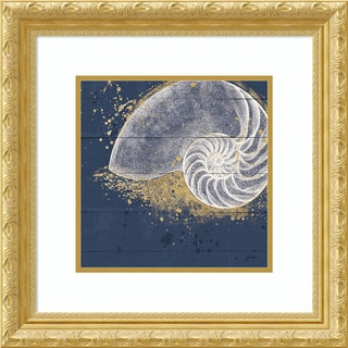 Framed Art Print 'Calm Seas IX no Words (Nautilus)' by Janelle Penner 22 x 22-inch