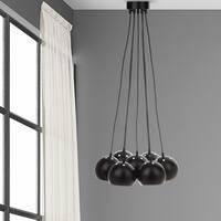 Safavieh Lighting 17.75-inch Rome Bearing Adjustable Black Pendant Lamp