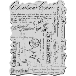 Stampendous Cling Stamp 4X6-Christmas Background