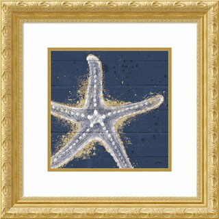 Framed Art Print 'Calm Seas XI no Words (Sea Star)' by Janelle Penner 22 x 22-inch