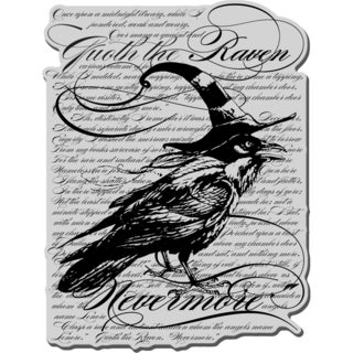 Stampendous Cling Stamp 4X6-Raven Background