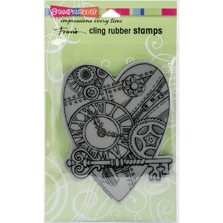 Stampendous Cling Stamp 4X6-Time For Love