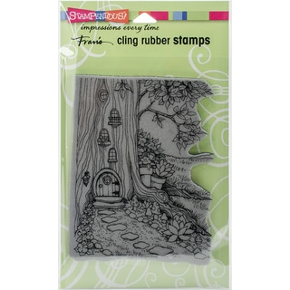 Stampendous Cling Stamp 4X6-Gnome Home