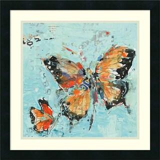 Framed Art Print 'Monarch II Light Blue' by Kellie Day 22 x 22-inch