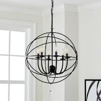 Safavieh Lighting 22-inch Evie Black/ Clear Adjustable Chandelier