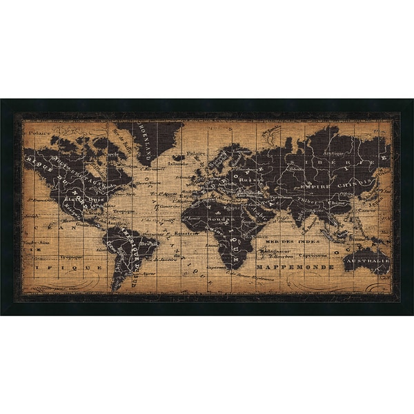 Framed art print old world map by pela studio 42 x 22 inch framed art print x27old world mapx27 by pela studio sciox Images