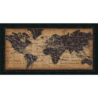 Framed Art Print 'Old World Map' by Pela Studio 42 x 22-inch
