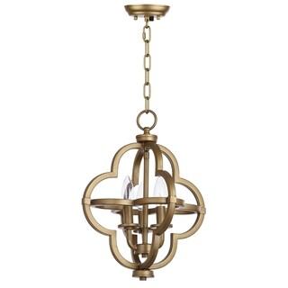 Safavieh Lighting 12.25-inch Mila Gold Adjustable Orb Pendant