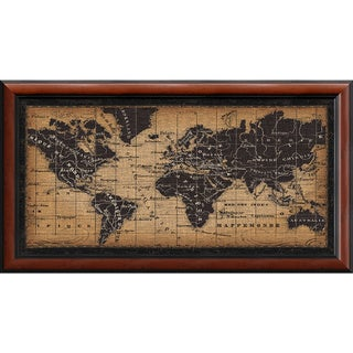 Framed Art Print 'Old World Map' by Pela Studio 44 x 24-inch