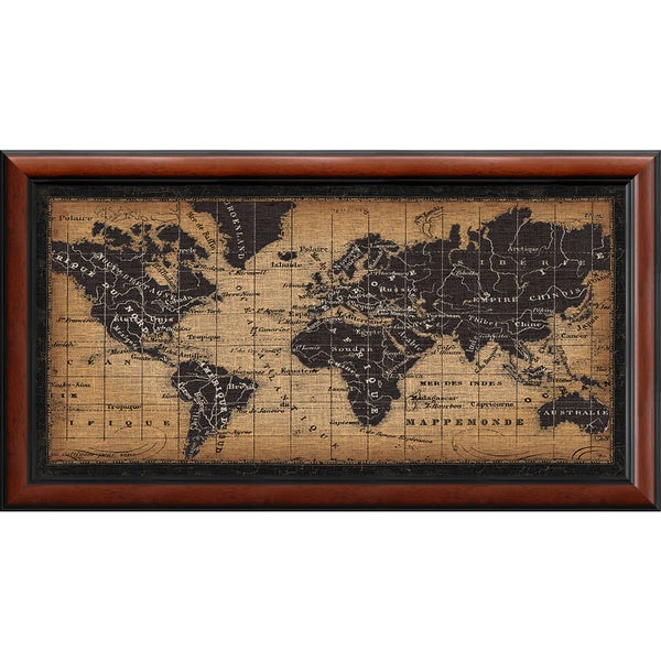 Framed art print old world map by pela studio 44 x 24 inch free framed art print x27old world mapx27 by pela studio gumiabroncs Image collections
