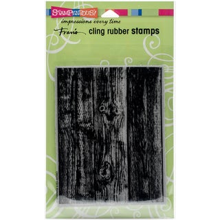 Stampendous Cling Stamp 7.75X4.5-Wood Background