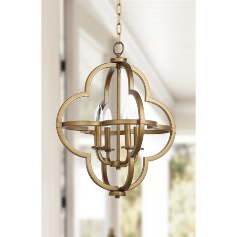 "Safavieh Lighting 18.5-inch Millard Gold Adjustable Orb Pendant - 18.5"" x 18.5"" x 22.5-94.5"""