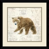 Framed Art Print 'Into the Woods VI no Border (Bear)' by Emily Adams 17 x 17-inch