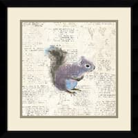 Framed Art Print 'Into the Woods V no Border (Squirrel)' by Emily Adams 17 x 17-inch