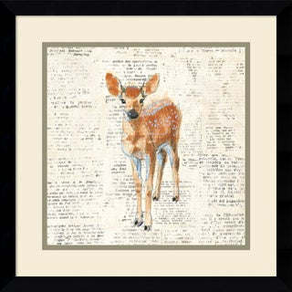 Framed Art Print 'Into the Woods III no Border (Deer)' by Emily Adams 17 x 17-inch
