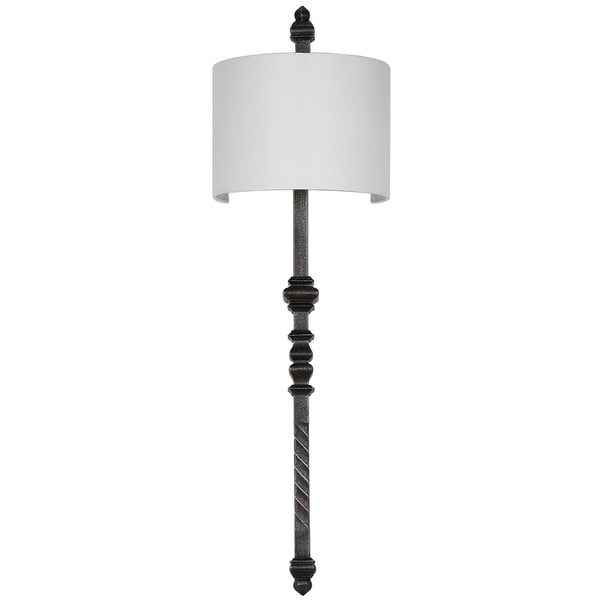 "Safavieh Lighting 40-inch Covington Silver Black Wall Sconce - 12"" x 9"" x 40"""