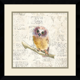 Framed Art Print 'Into the Woods II no Border (Owl)' by Emily Adams 17 x 17-inch