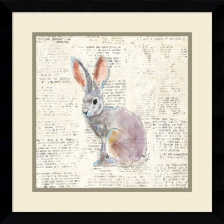 Framed Art Print 'Into the Woods I no Border (Hare)' by Emily Adams 17 x 17-inch