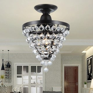 Stanzo 1-light Antique Bronze Tear Drop Crystal Ceiling Light