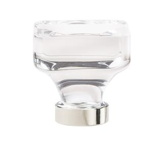 Amerock Glacio Clear Crystal and Polished Nickel 1 3/8-inch (35-millimeter) Diameter Square Cabinet Knob