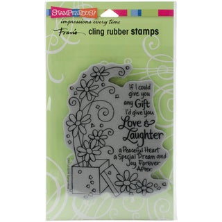 Stampendous Cling Stamp 7.75X4.5-Laughter Gift