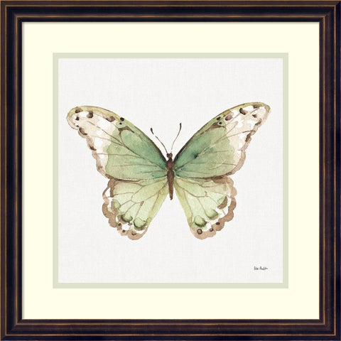 Framed Art Print 'Colorful Breeze XII (Butterfly)' by Lisa Audit 18 x 18-inch