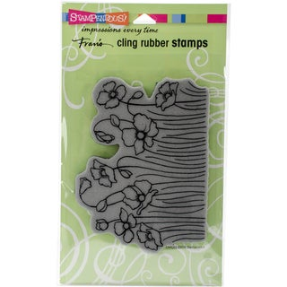 Stampendous Cling Stamp 7.75X4.5-Poppy Fields