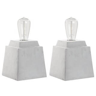 Safavieh Lighting 11.75-inch Opal Concrete Grey Table Lamp (Set of 2)