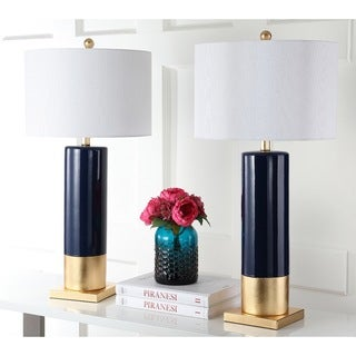 Safavieh Dolce 31-Inch H Navy / Gold Table Lamp (Set of 2)