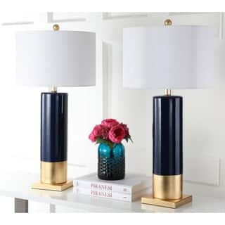 Safavieh Dolce 31-Inch H Navy / Gold Table Lamp (Set of 2)|https://ak1.ostkcdn.com/images/products/14429034/P20995633.jpg?impolicy=medium