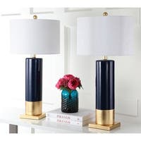 Safavieh Lighting Dolce 31-inch Navy/Gold Table Lamp (Set of 2)