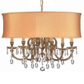 Crystorama Brentwood Collection 6-light Olde Brass/Golden Teak Swarovski Strass Crystal Chandelier