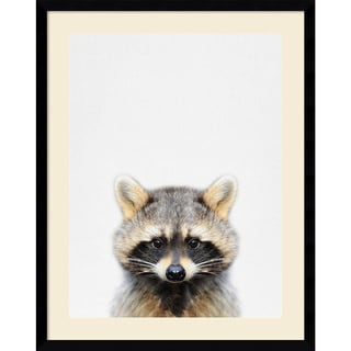 Framed Art Print 'Raccoon' by Tai Prints 23 x 29-inch