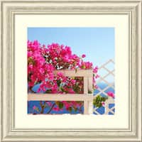 Framed Art Print 'Santorini Blooms (Floral)' by Sylvia Coomes 26 x 26-inch