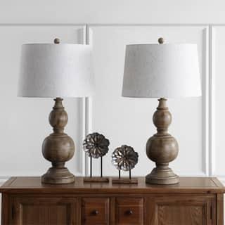 Safavieh Lighting 32-inch Araceli Brown Table Lamp (Set of 2)