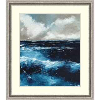 Framed Art Print 'Rolling Sea' by Stuart Roy 29 x 33-inch