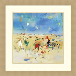 Framed Art Print 'Beach Play 1' by Jossy Lownes 27 x 27-inch https://ak1.ostkcdn.com/images/products/14429052/P20995862.jpg?impolicy=medium