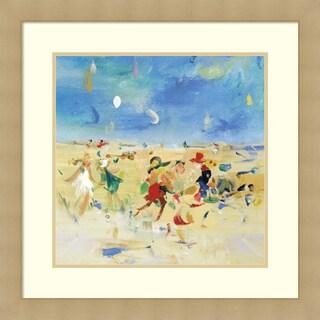 Framed Art Print 'Beach Play 1' by Jossy Lownes 27 x 27-inch
